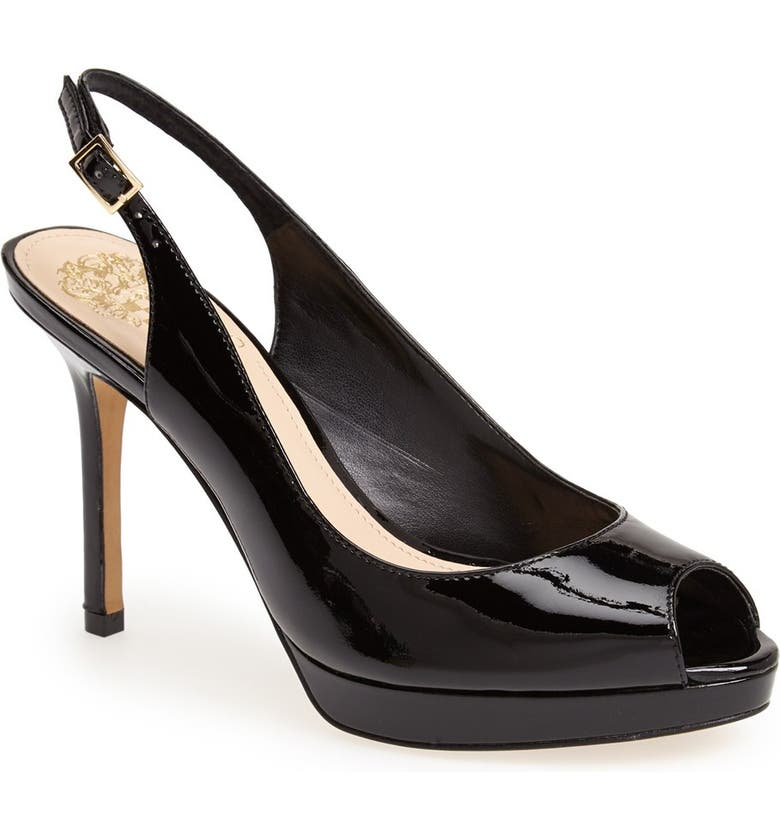 VINCE CAMUTO 'Cavi' Slingback Leather Pump, Main, color, 001
