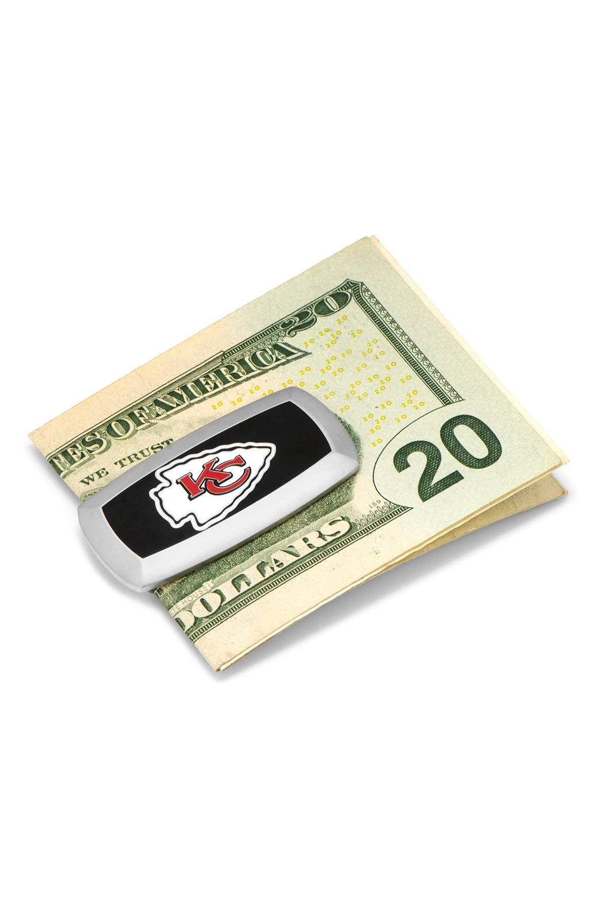 Image of Cufflinks Inc. NFL Kansas City Chiefs Cushion Money Clip