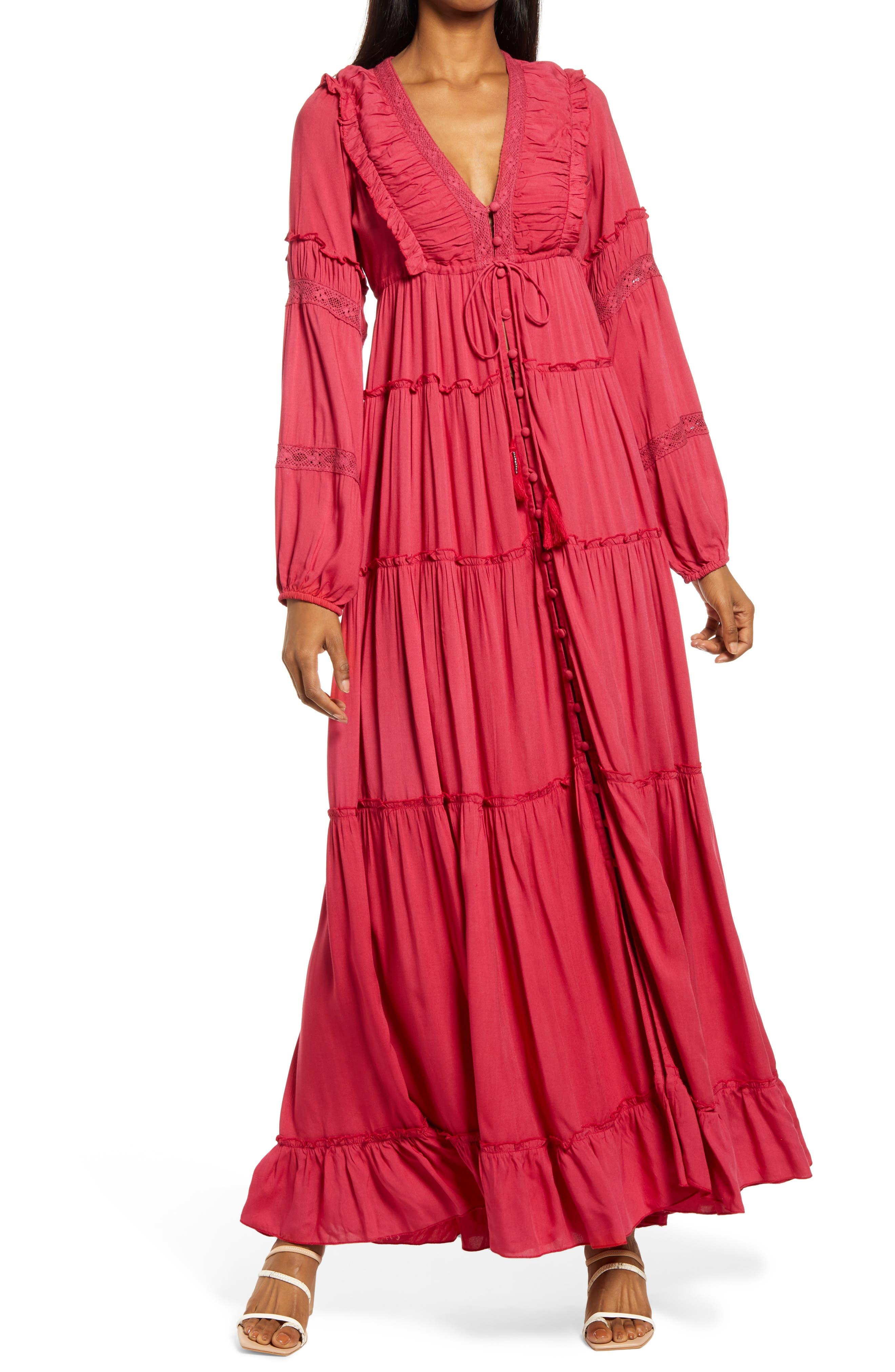 Ali Tiered Ruffle Long Sleeve Maxi Dress
