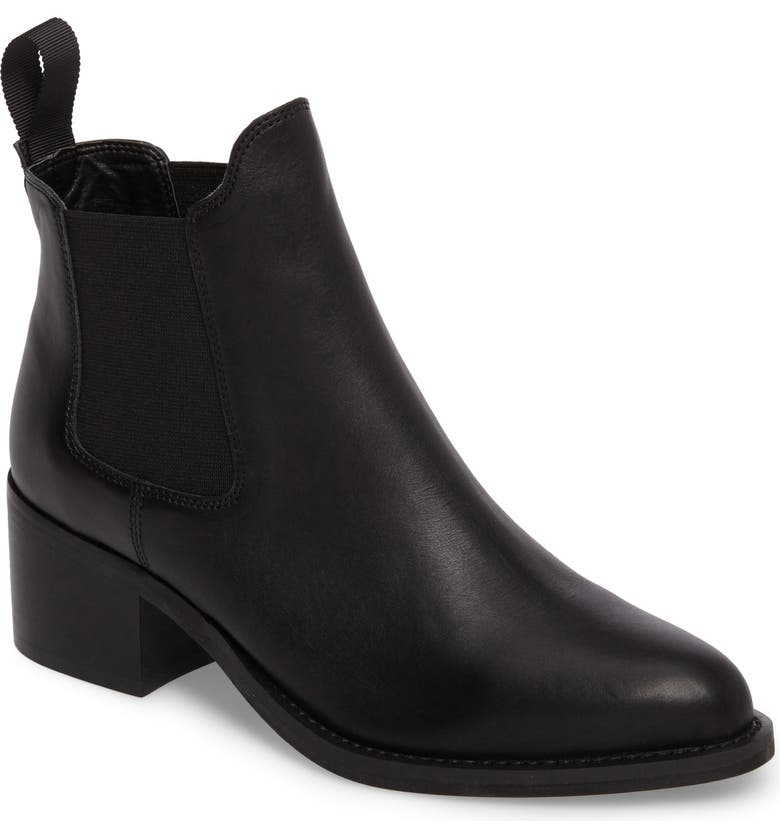 TONY BIANCO Fraya Ankle Bootie, Main, color, BLACK LEATHER