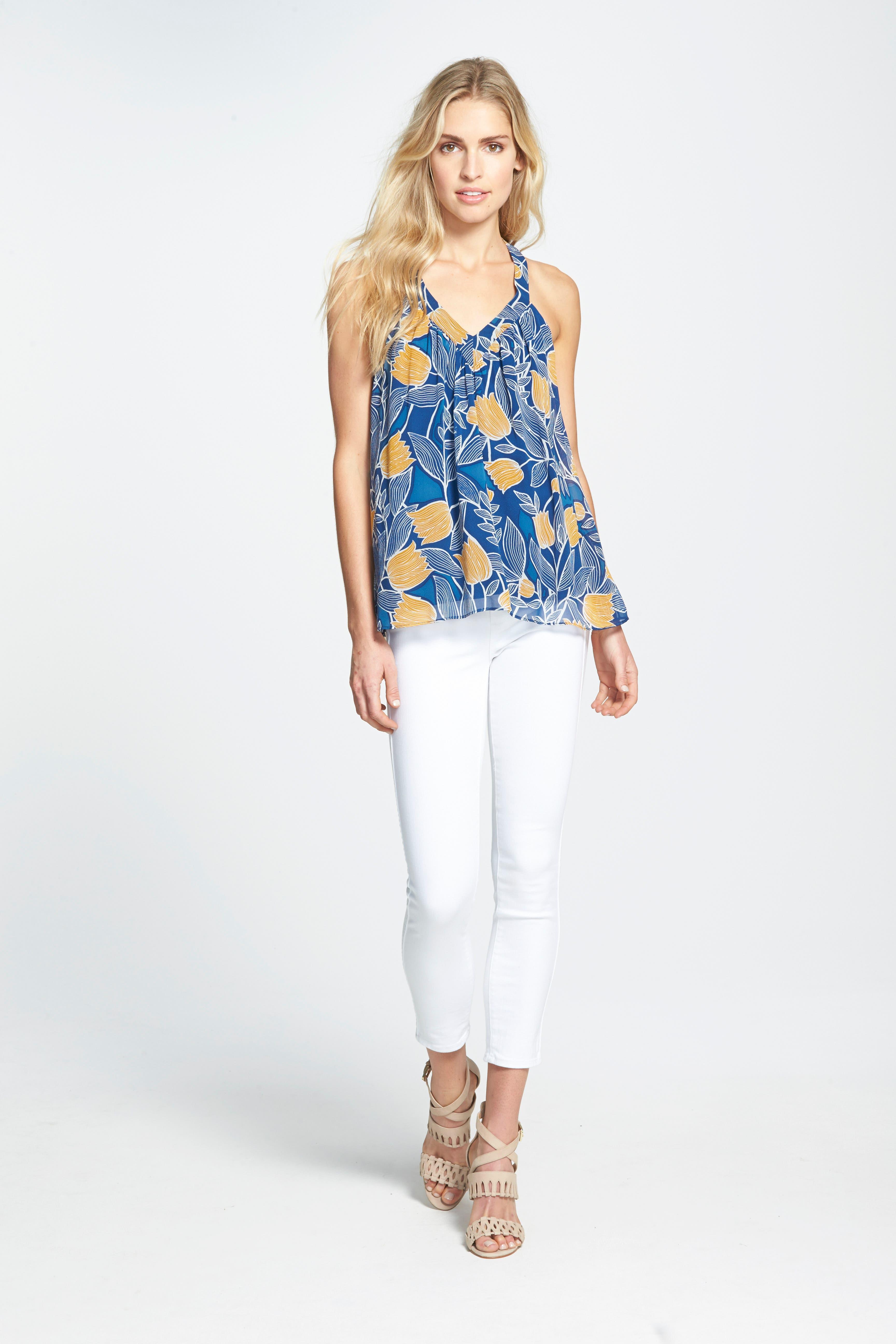 ,                             Denim Hoxton High Waist Skinny Jeans,                             Alternate thumbnail 4, color,                             ULTRA WHITE