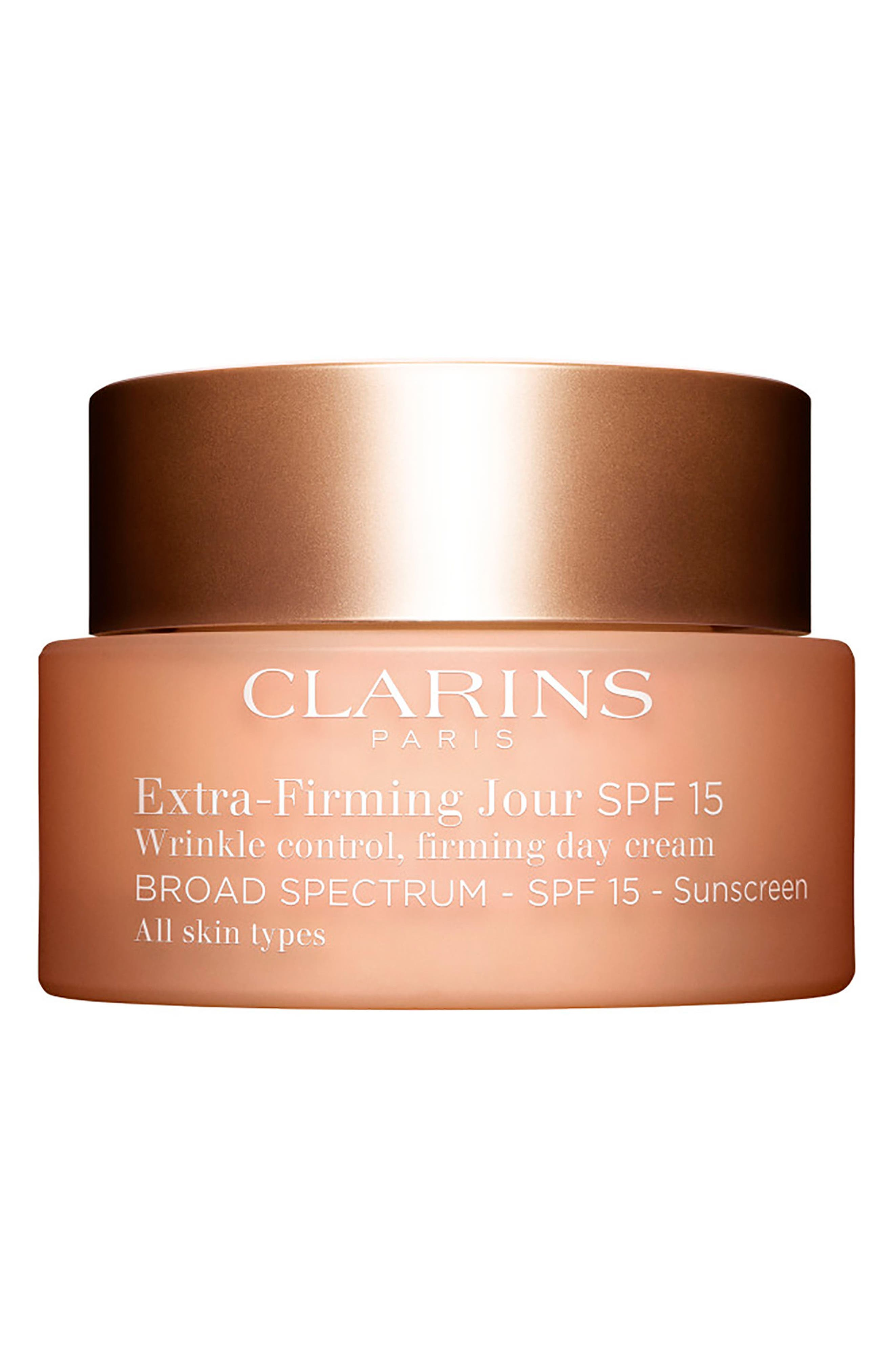 Extra-Firming Wrinkle Control Firming Day Cream Broad Spectrum 15 for All Skin Types, Main, color, NO COLOR