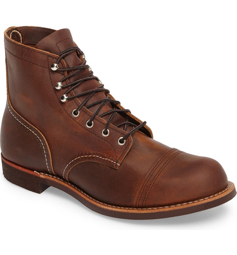 RED WING Iron Ranger Cap Toe Boot, Main, color, COPPER LEATHER