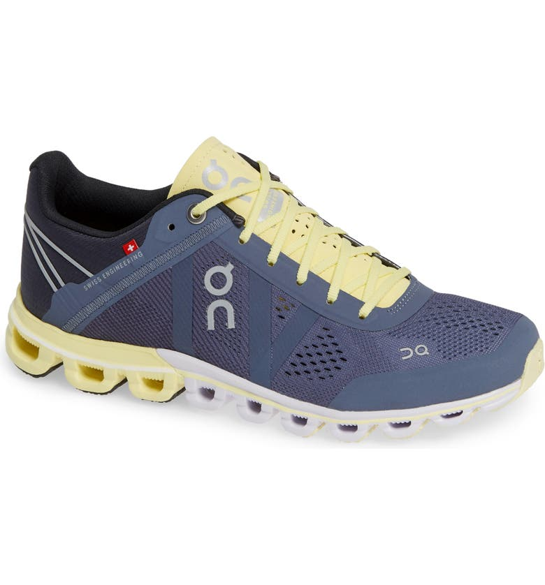 ON Cloudflow Running Shoe, Main, color, SMOKE/ LIMELIGHT