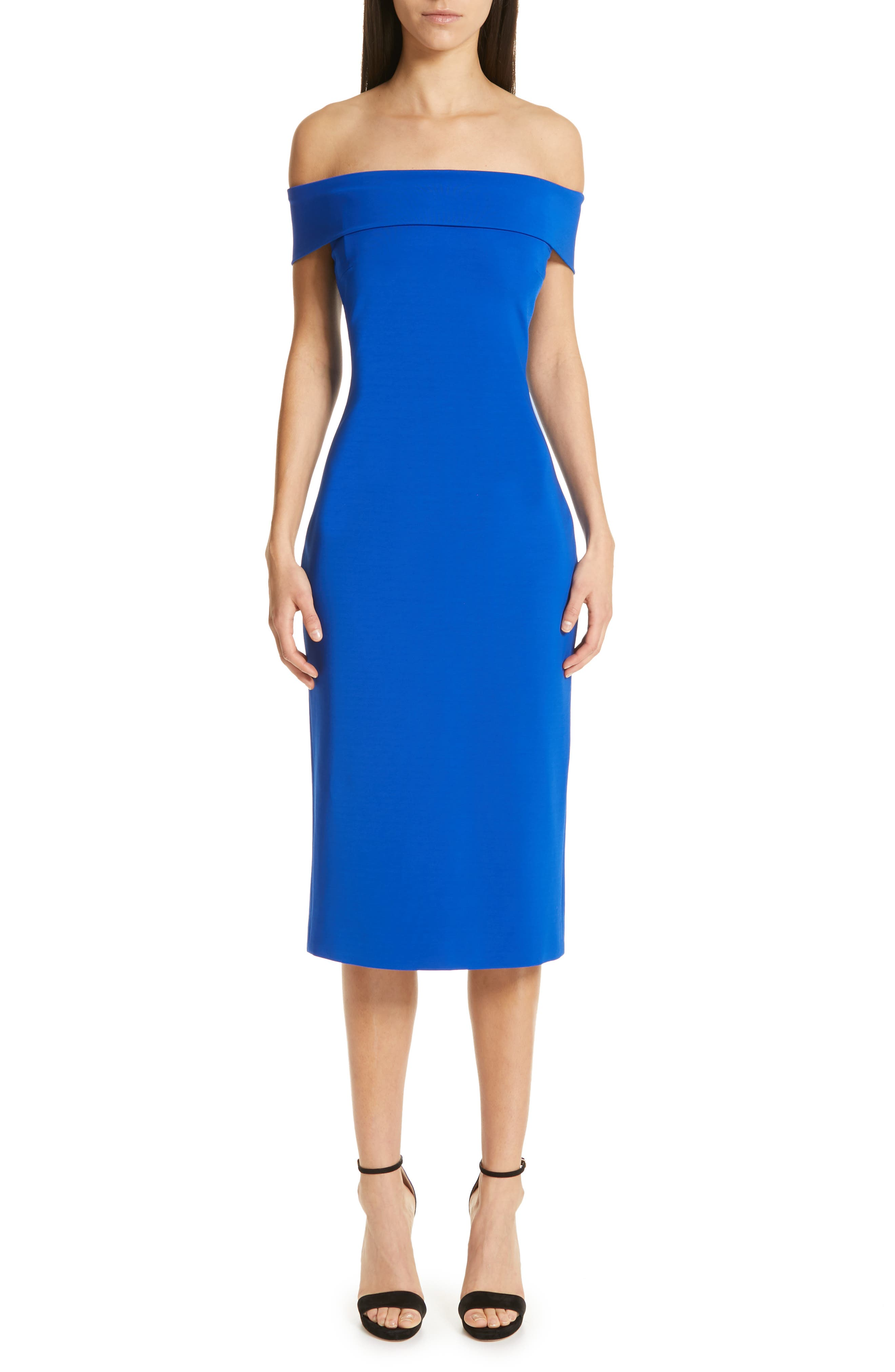 Cushnie Off The Shoulder Pencil Dress