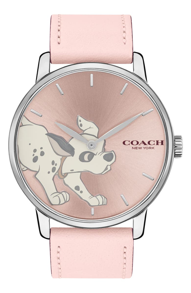 X Disney 101 Dalmatians Grand Leather Strap Watch, 40mm by Coach