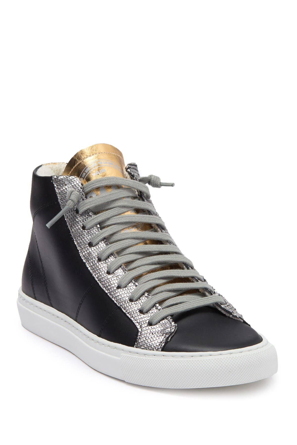 P448 | Star Leather High Top Sneaker