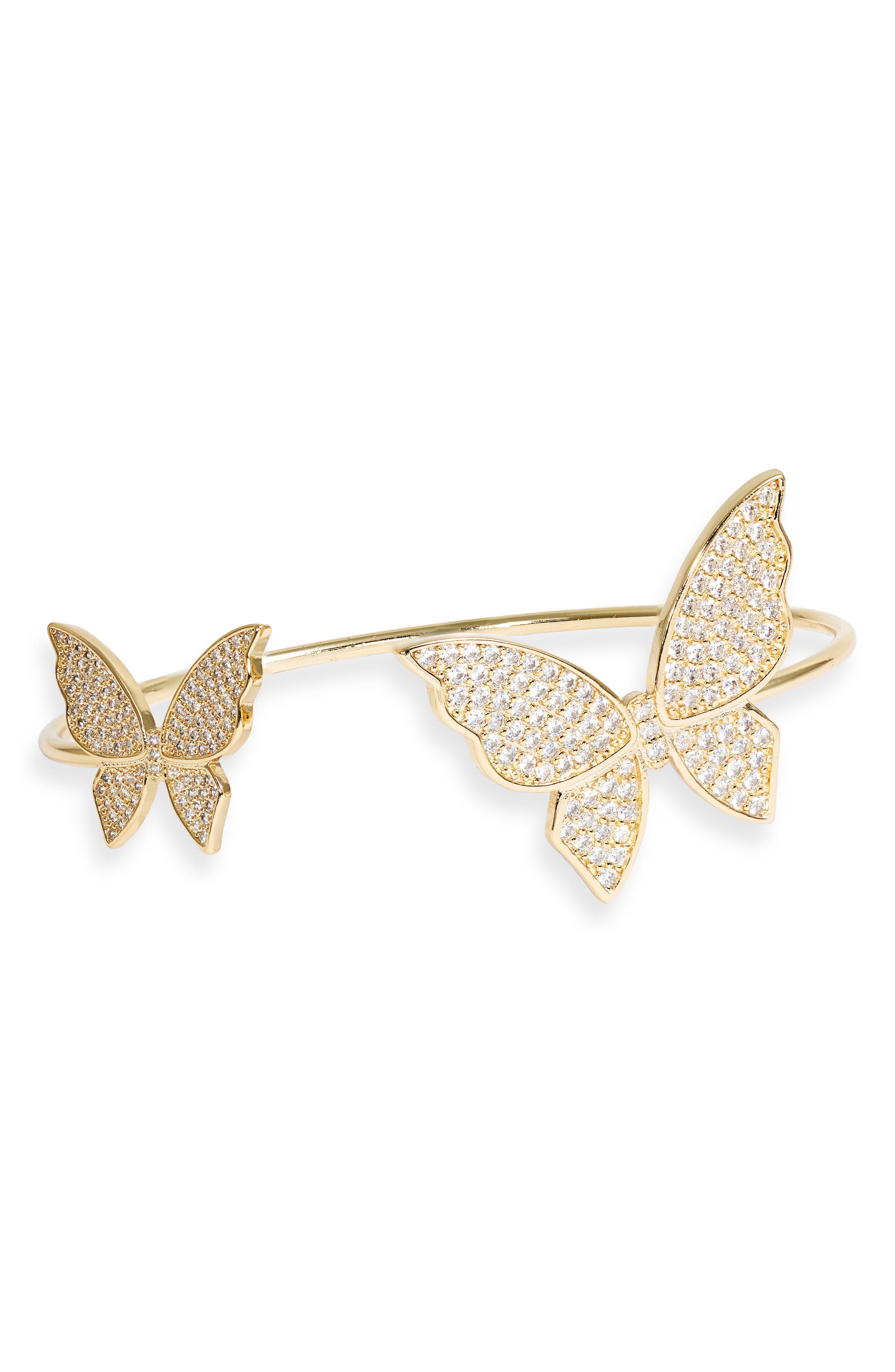 Ana Cubic Zirconia Butterfly Cuff Bracelet
