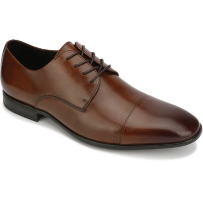 Kenneth Cole New York Regal Cap Toe Derby- Brown
