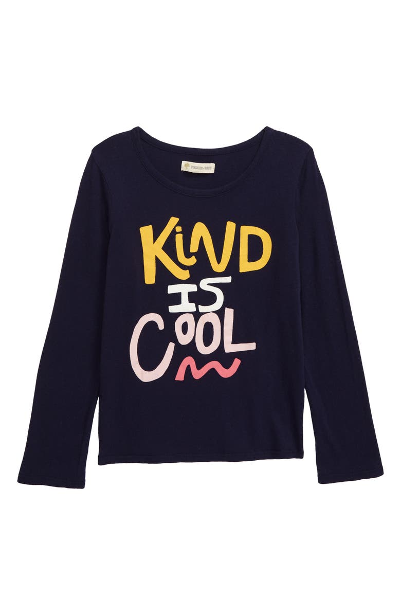 TUCKER + TATE Long Sleeve Graphic Tee, Main, color, NAVY PEACOAT KIND IS COOL