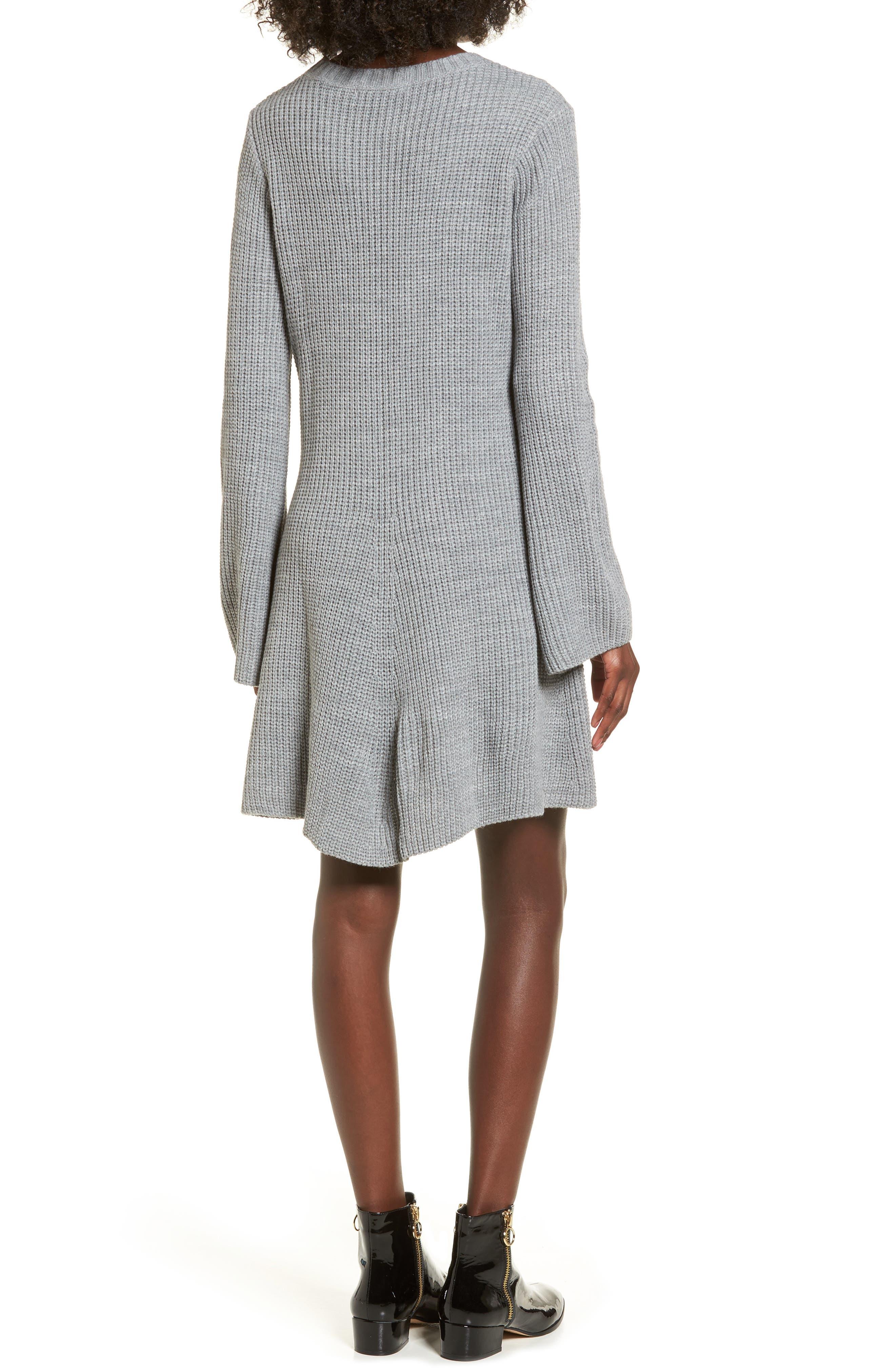,                             Flared Sleeve Sweater Dress,                             Alternate thumbnail 2, color,                             020