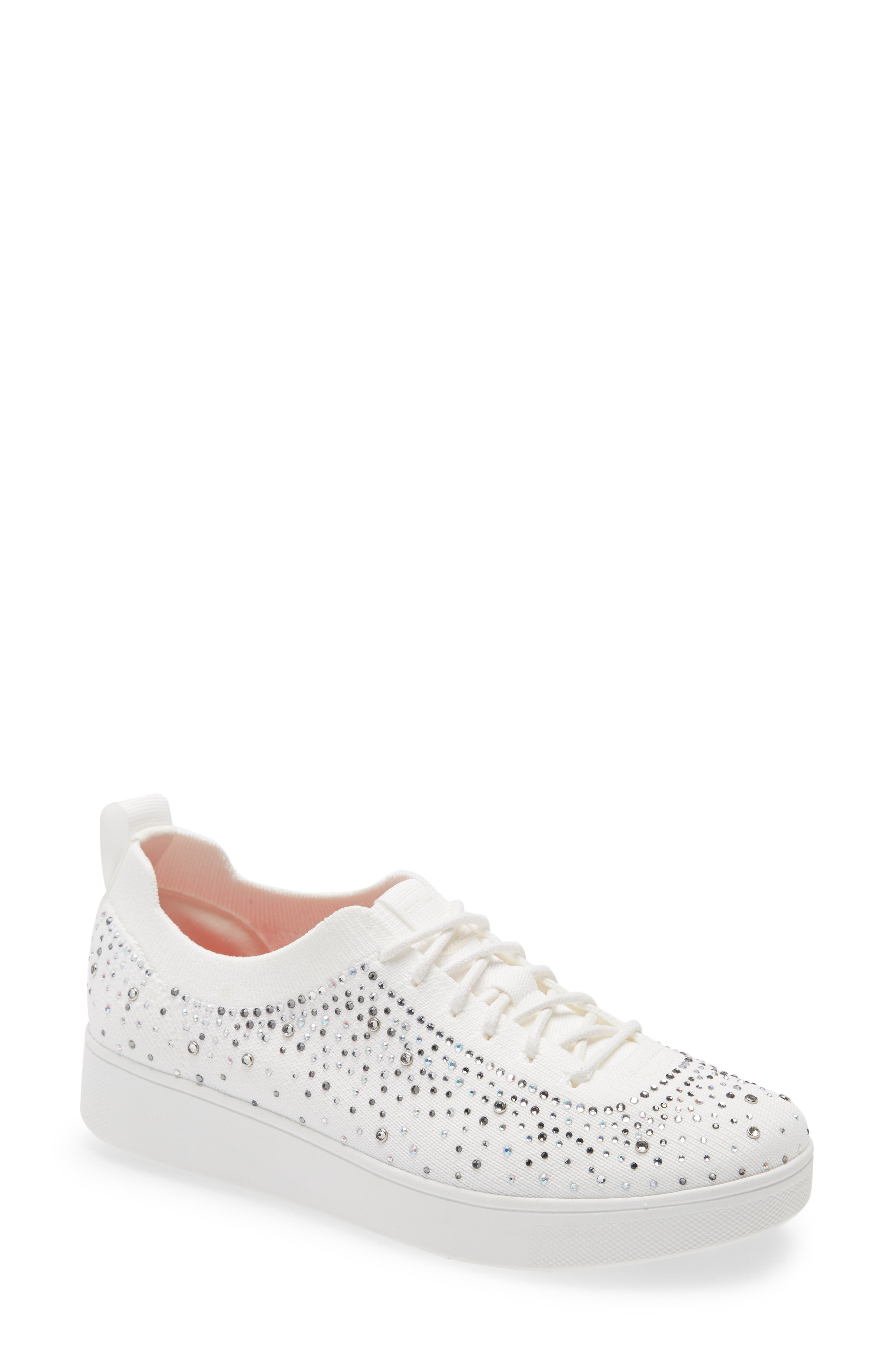 Rally Crystal Embellished Knit Sneaker