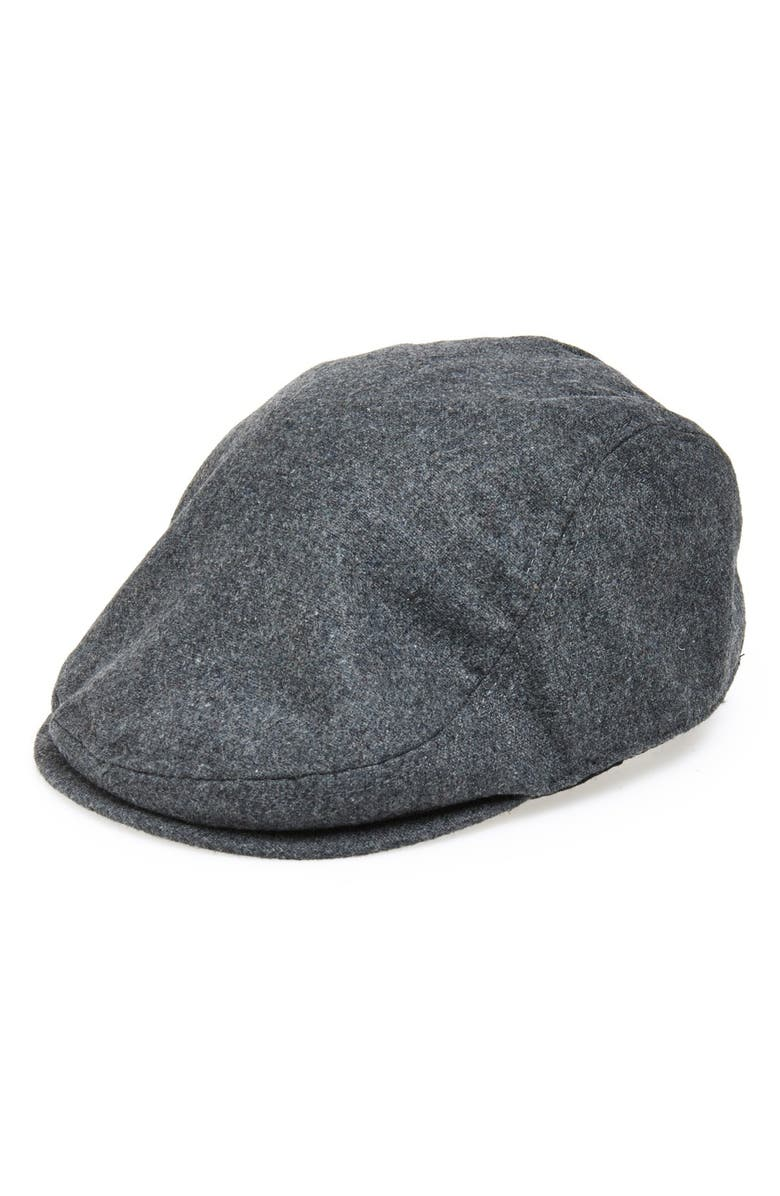 GOORIN BROS. Glory Hats by Goorin 'Mikey' Driving Cap, Main, color, CHARCOAL