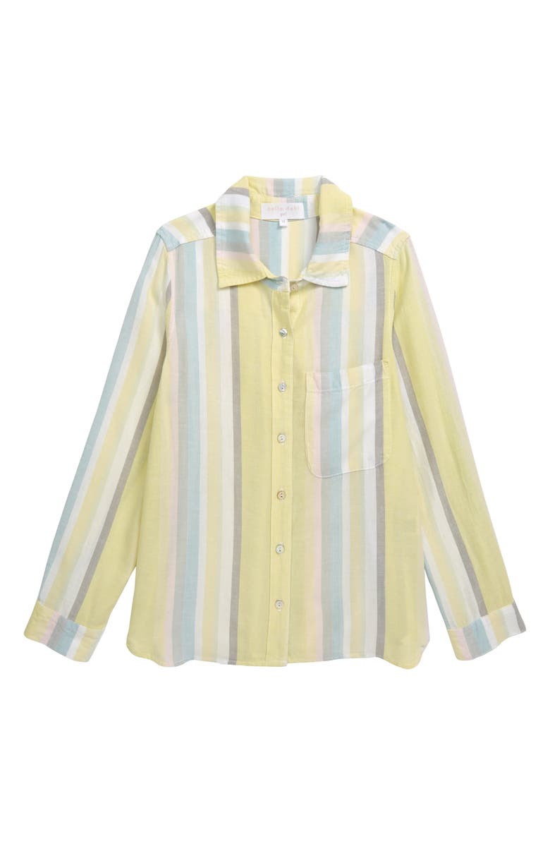 BELLA DAHL Pocket Shirt, Main, color, SUNNY LIME