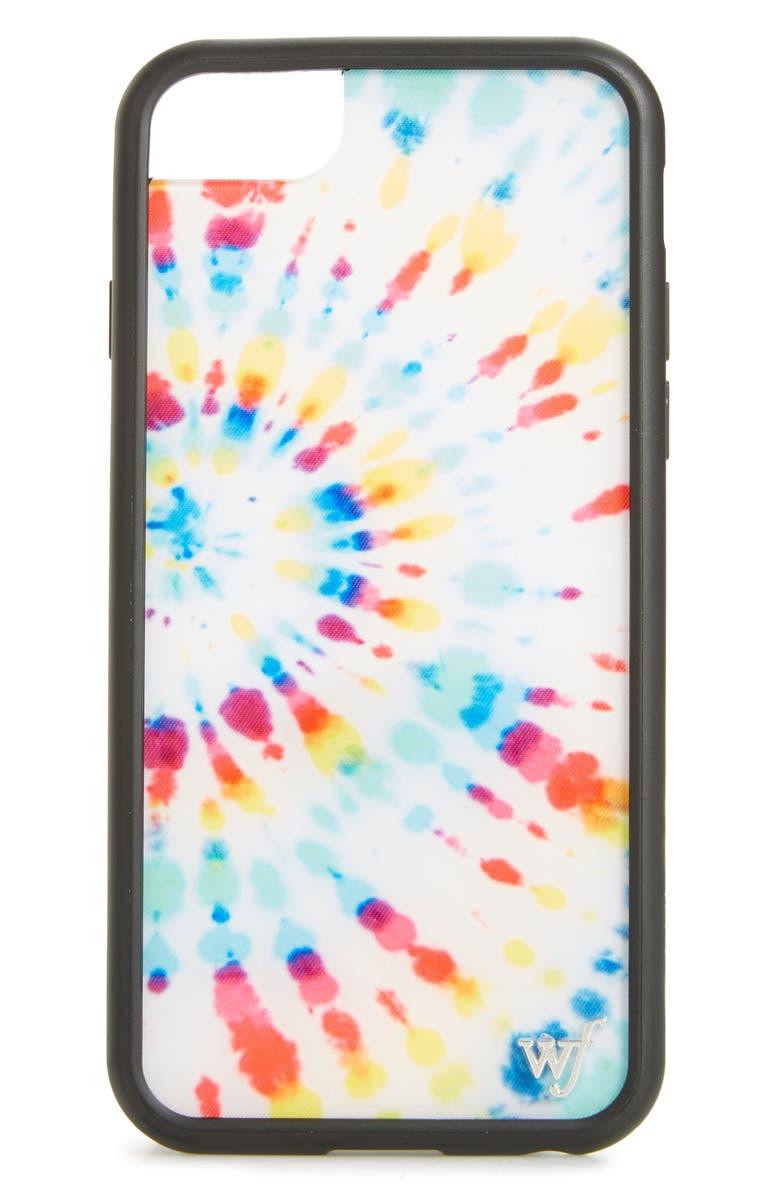 WILDFLOWER Tie Dye iPhone 6/7/8 Case, Main, color, 100