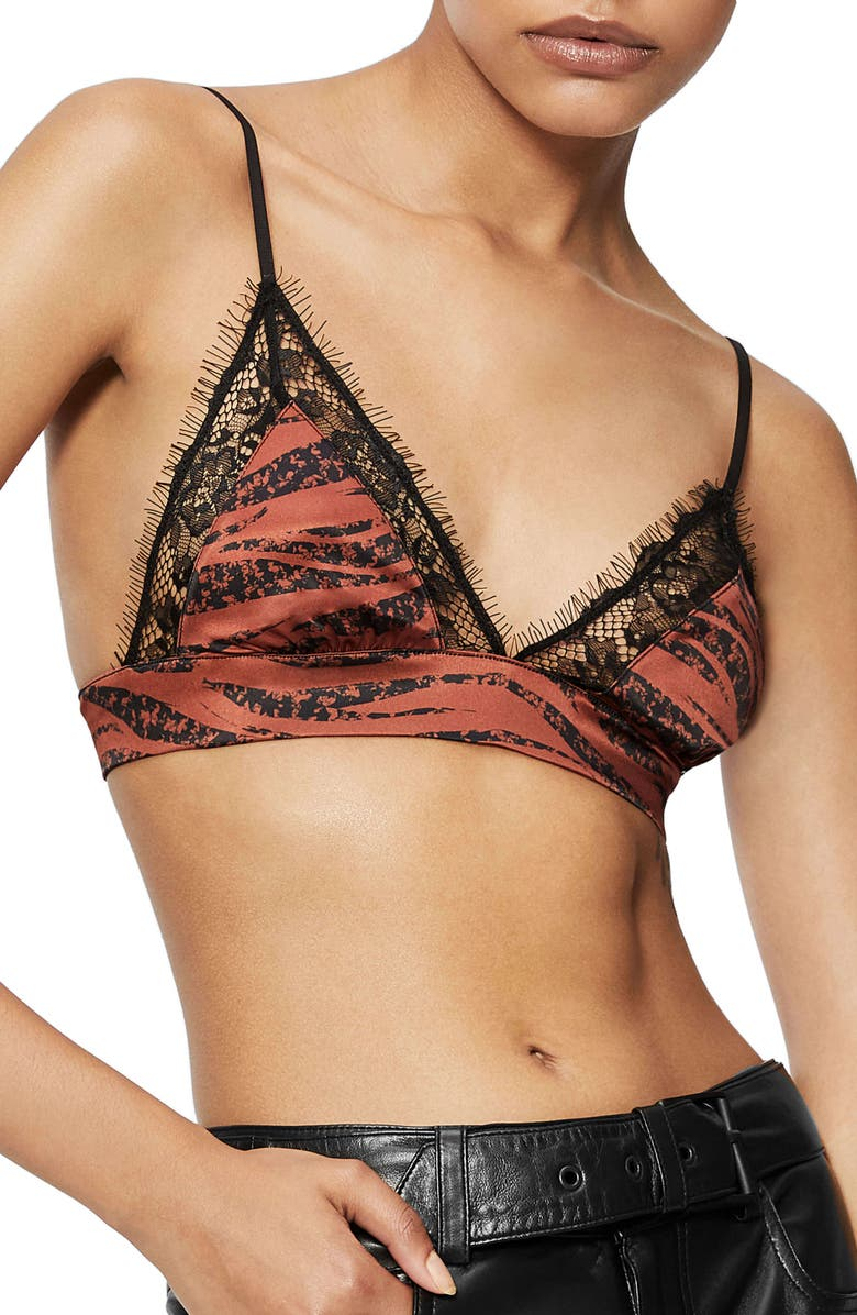 ANINE BING Winnie Bra, Main, color, RUST ZEBRA
