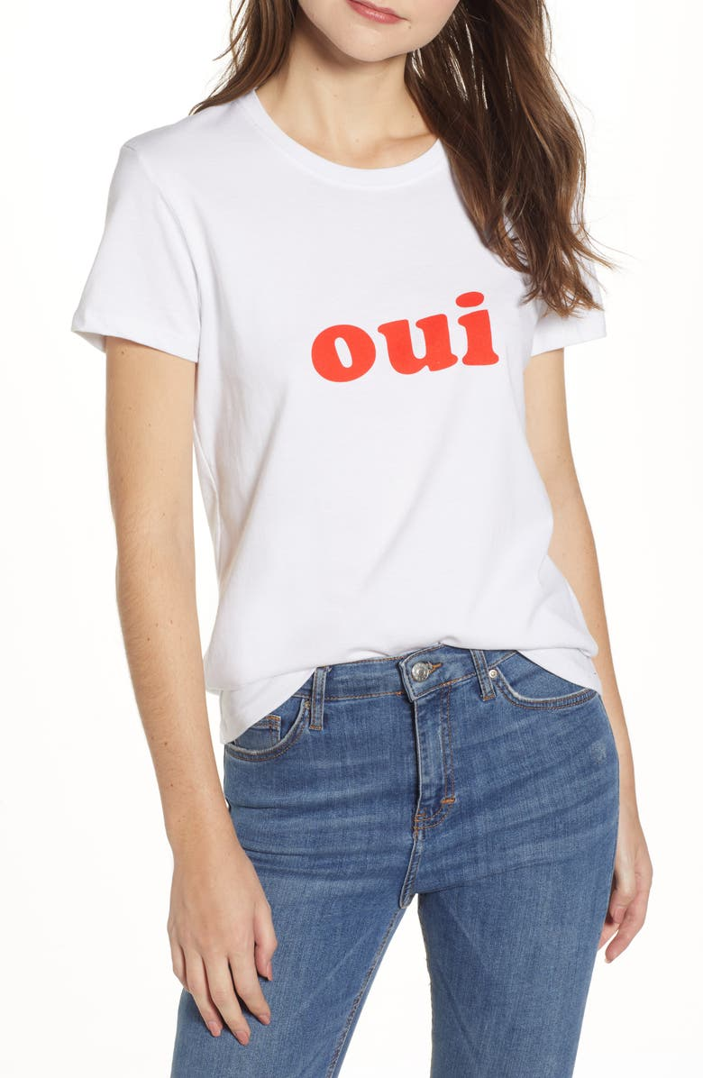 PRINCE PETER Oui Tee, Main, color, WHITE