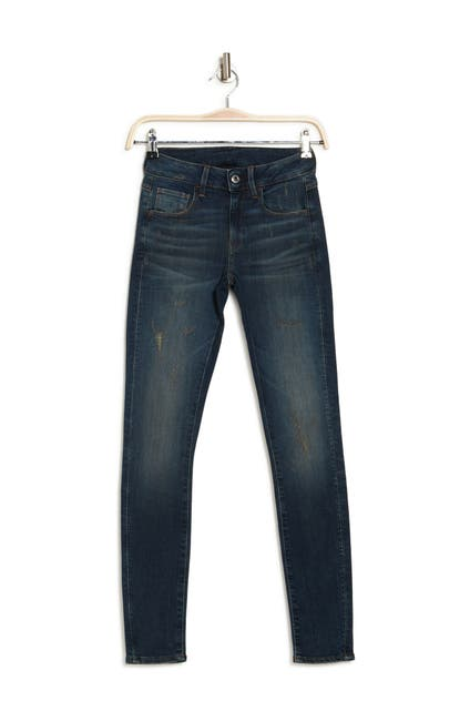 Image of G-STAR RAW 3301 Mid Rise Distressed Skinny Jeans