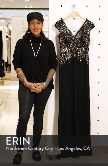 Sequin & Crepe Evening Dress, sales video thumbnail
