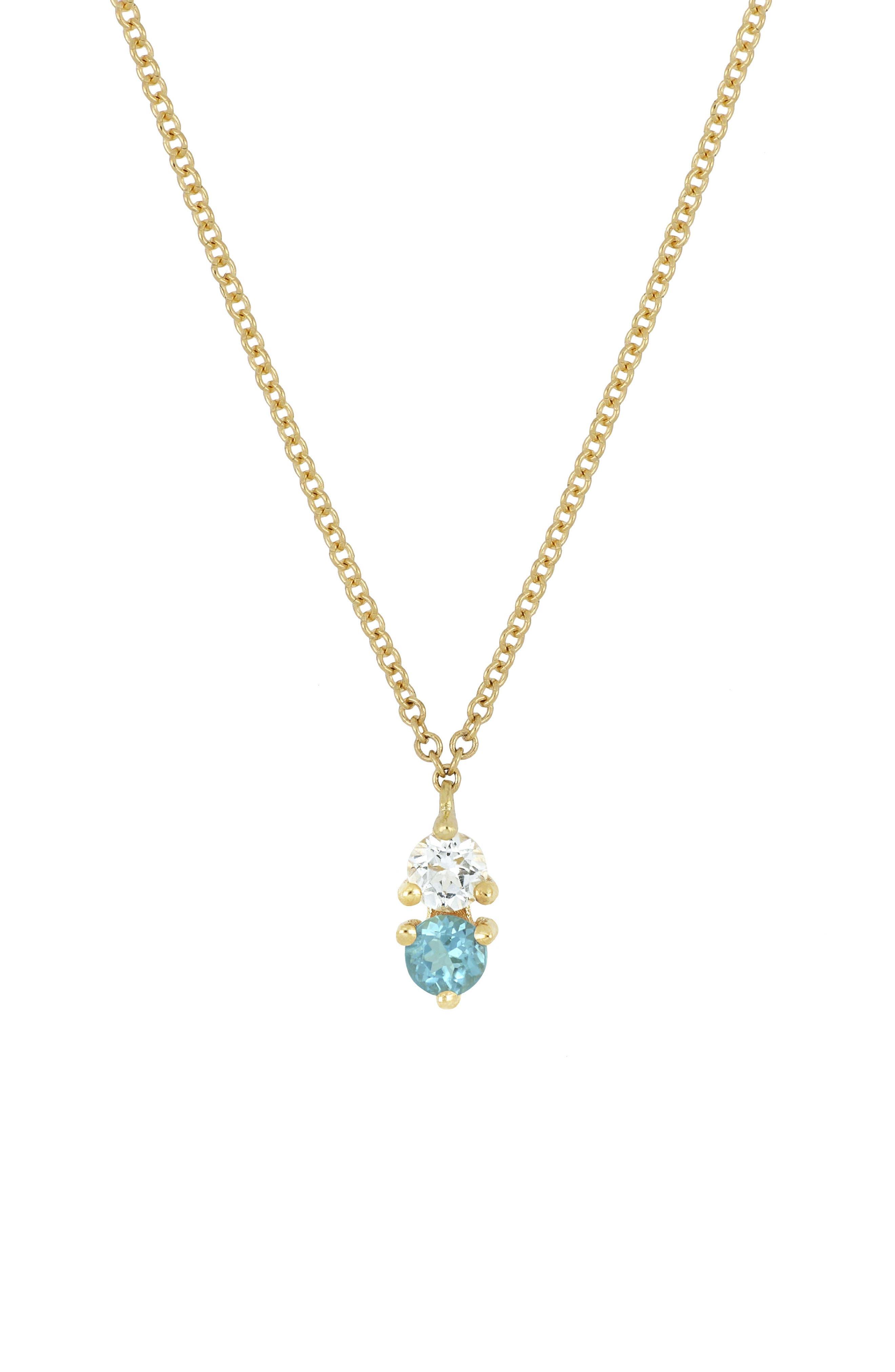 ,                             Birthstone Pendant Necklace,                             Main thumbnail 13, color,                             440