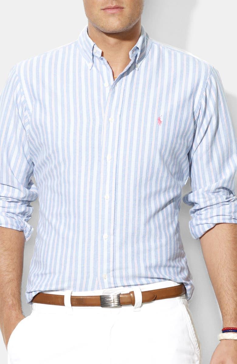 POLO RALPH LAUREN Custom Fit Sport Shirt, Main, color, 420
