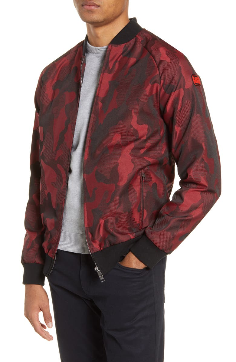 CHRISTOPHER BATES Magma Camo MTV Bomber Jacket, Main, color, RED