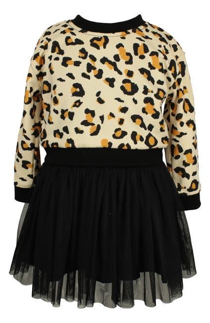 Image of Popatu Leopard & Tulle Skirt Set