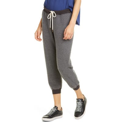 The Great. The Cropped Sweatpants, Grey