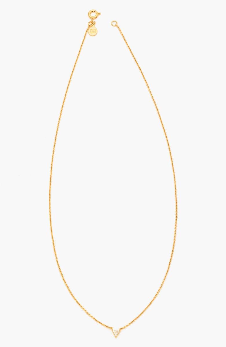 GORJANA 'Shimmer' Triangle Pendant Necklace, Main, color, 710
