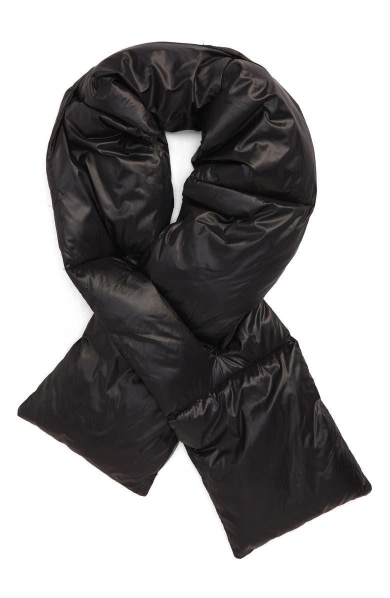 NORDSTROM MEN'S SHOP Puffer Scarf, Main, color, BLACK