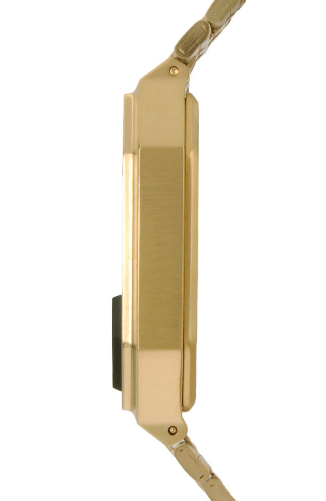 ,                             Rerun Digital Bracelet Watch, 39mm,                             Alternate thumbnail 3, color,                             GOLD/ BLACK/ GOLD