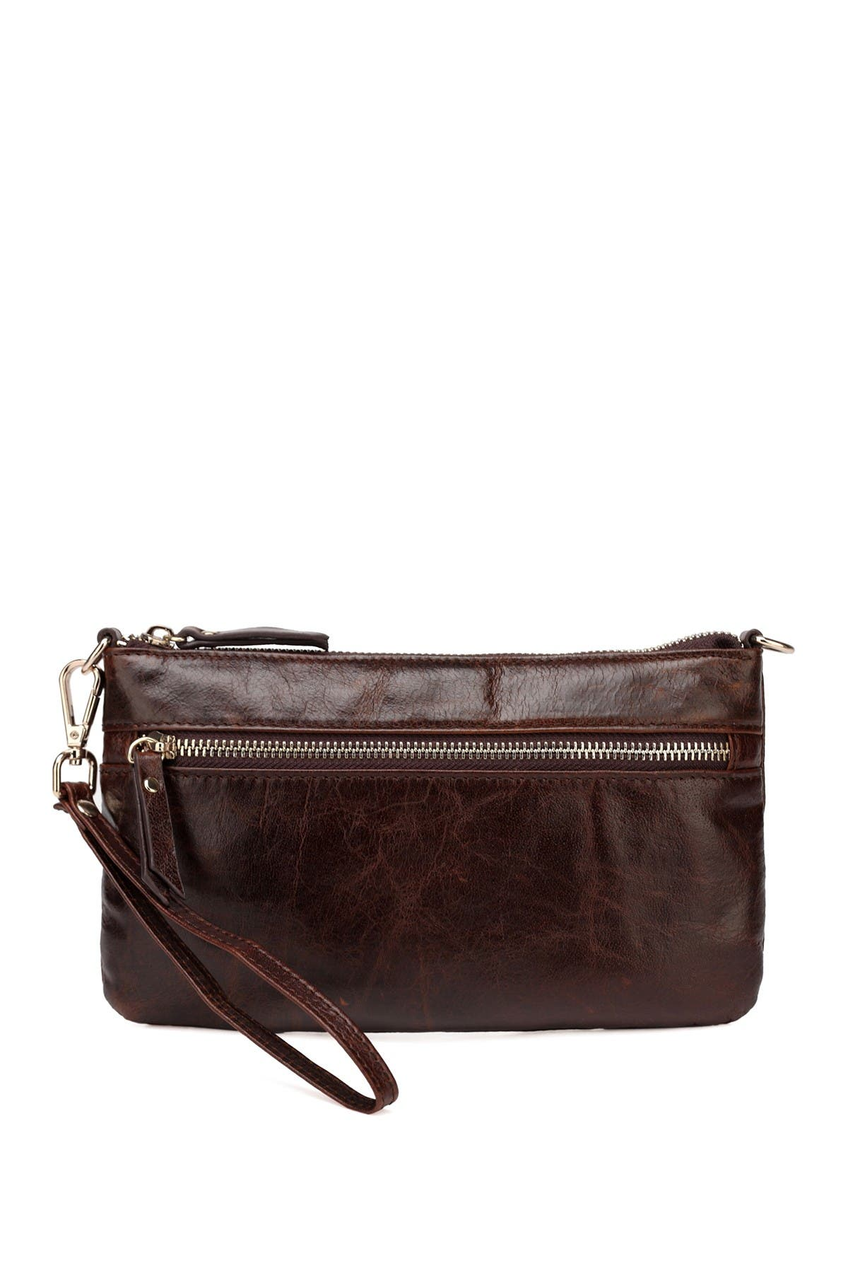 Image of Vicenzo Leather Maci Distressed Leather Crossbody Clutch