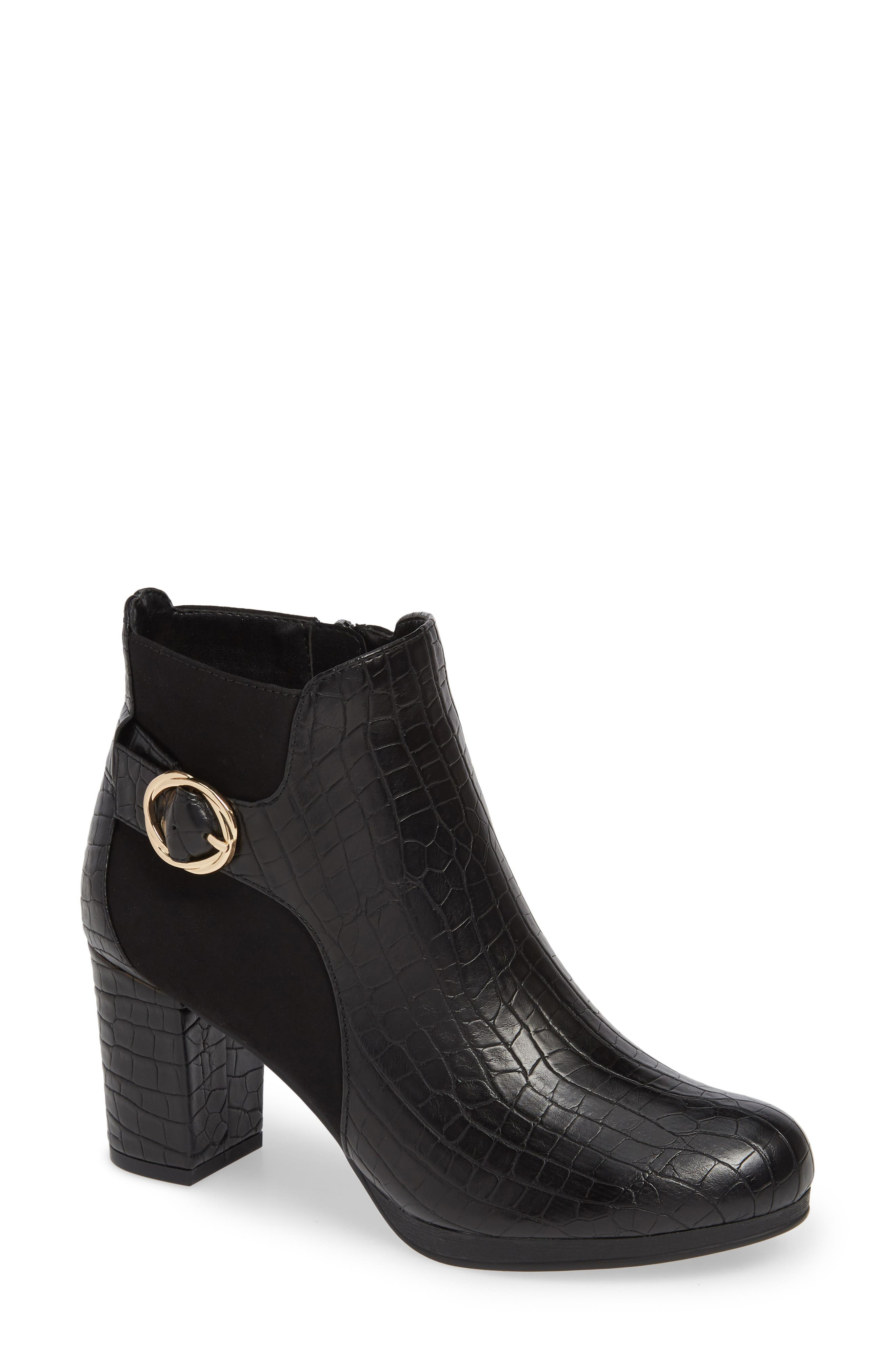 Bella Vita Leann Buckle Bootie WW - Black