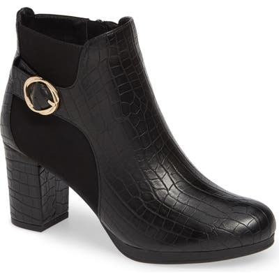 Bella Vita Leann Buckle Bootie, WW - Black