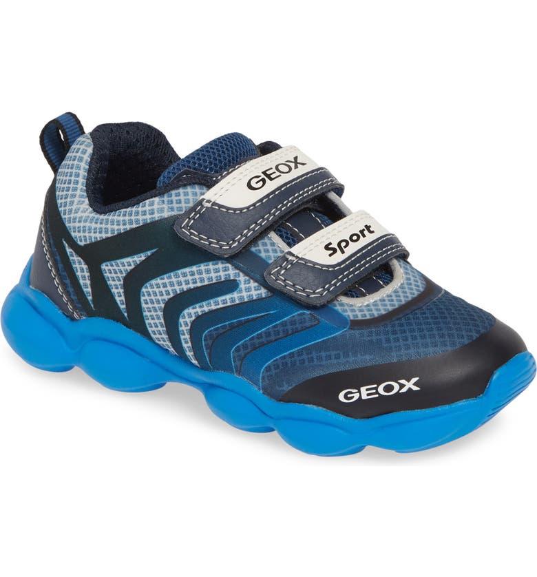 GEOX J Munfrey Sneaker, Main, color, NAVY/ AVIO