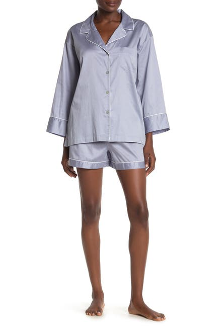 Image of Natori Essentials Shirt & Shorts Pajama 2-Piece Set