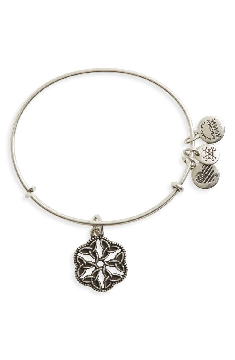 ALEX AND ANI Endless Knot Bracelet, Main, color, RUSSIAN SILVER