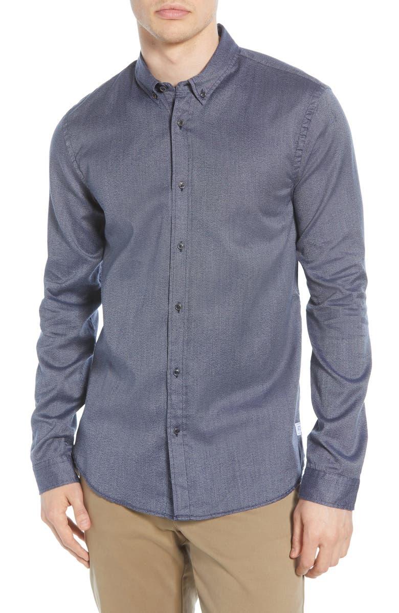 SCOTCH & SODA Blauw Button-Down Oxford Sport Shirt, Main, color, 020