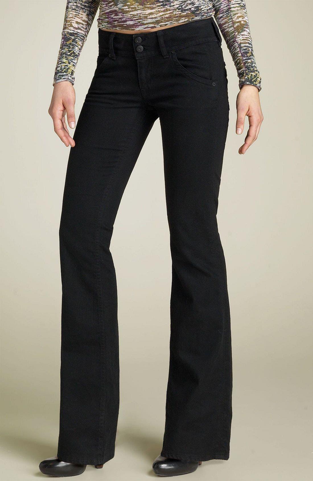 ,                             Signature Flap Pocket Bootcut Jeans,                             Main thumbnail 9, color,                             001