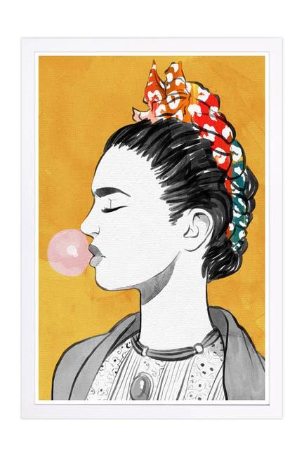 Image of Wynwood Studio Latina Bubble Popper Yellow People & Portraits Framed Wall Art