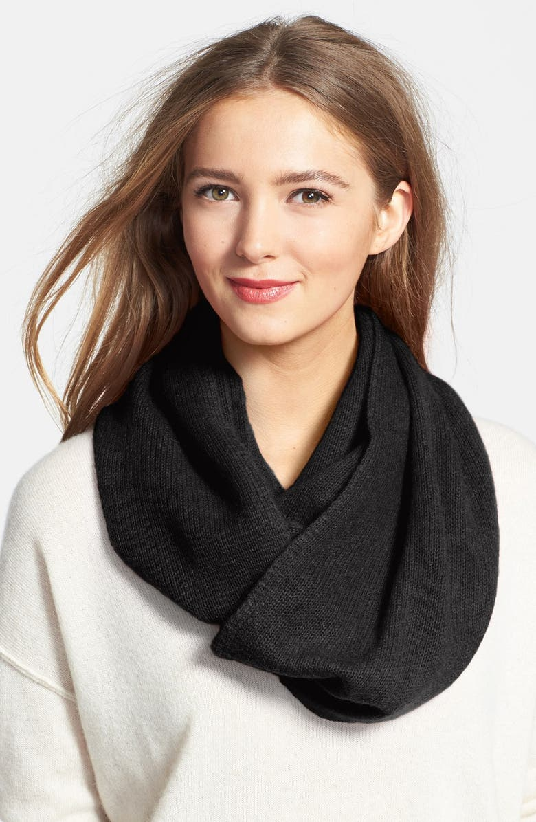 HALOGEN<SUP>®</SUP> Cashmere Infinity Scarf, Main, color, 001