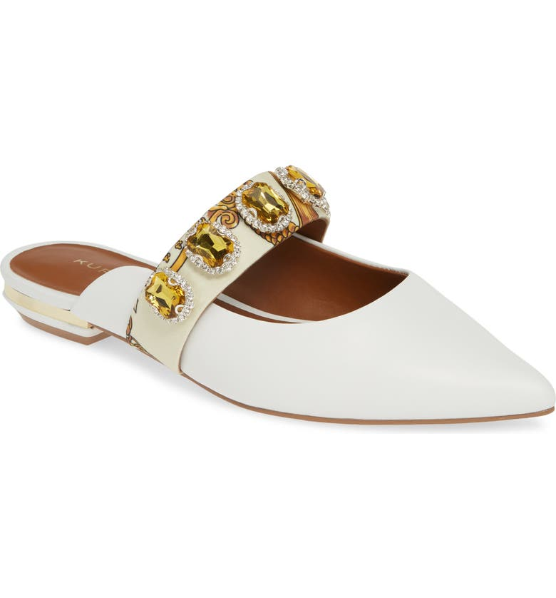 KURT GEIGER LONDON Priscilla Mule, Main, color, WHITE/ COMB LEATHER