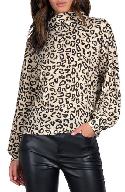 Sanctuary KLARA ANIMAL PRINT LONG SLEEVE TOP