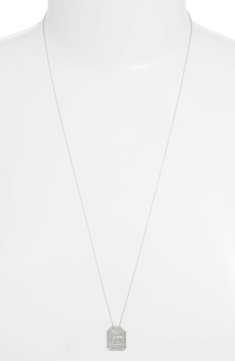 JENNIFER ZEUNER Jewelry Kiana Zodiac Pendant Necklace, Main, color, CAPRICORN-SILVER