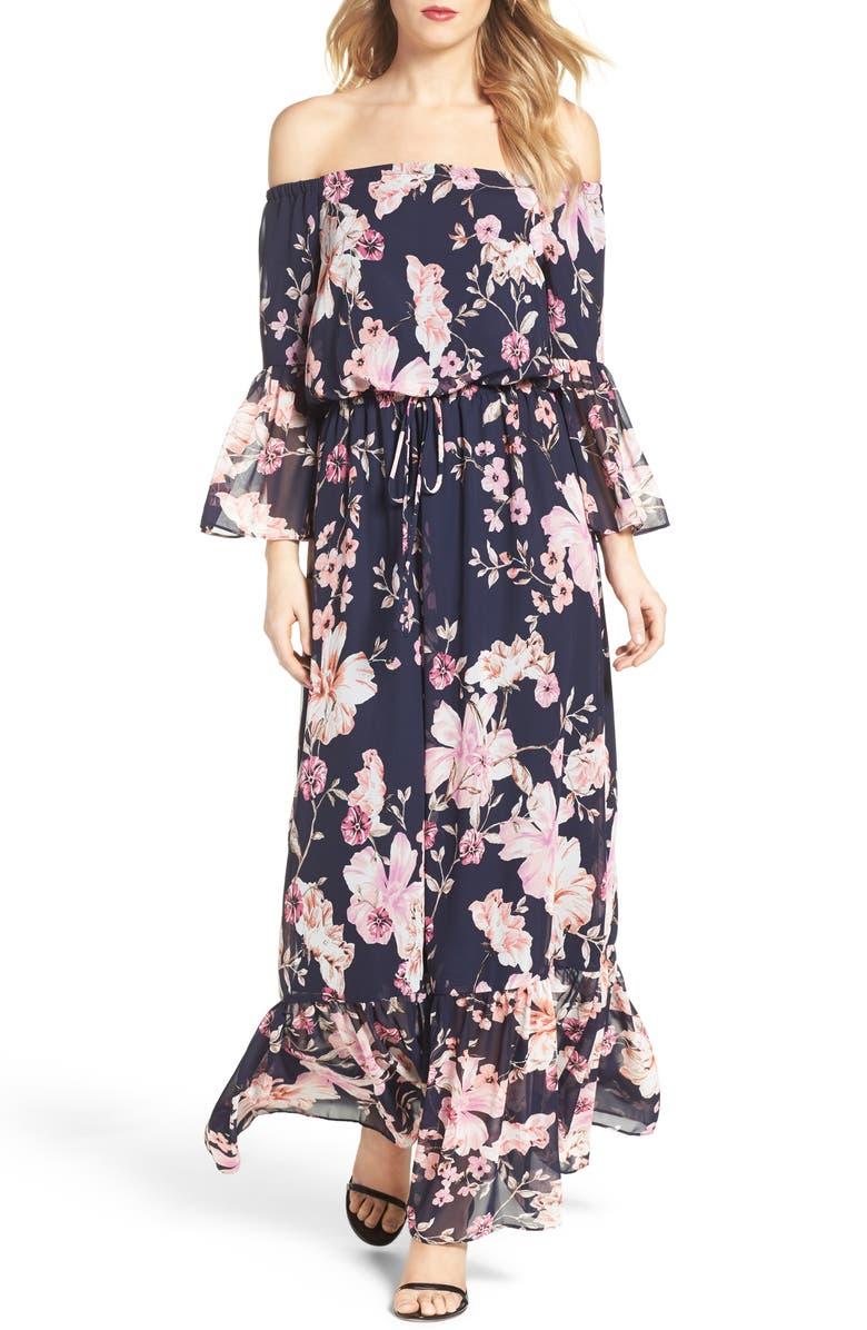 ELIZA J Blouson Dress, Main, color, 410