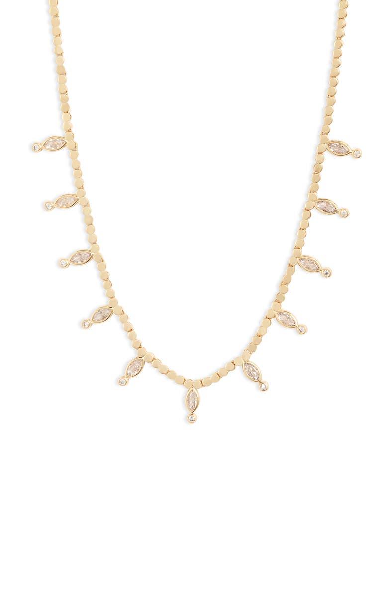 MELINDA MARIA Morgan Cubic Zirconia Collar Necklace, Main, color, 710