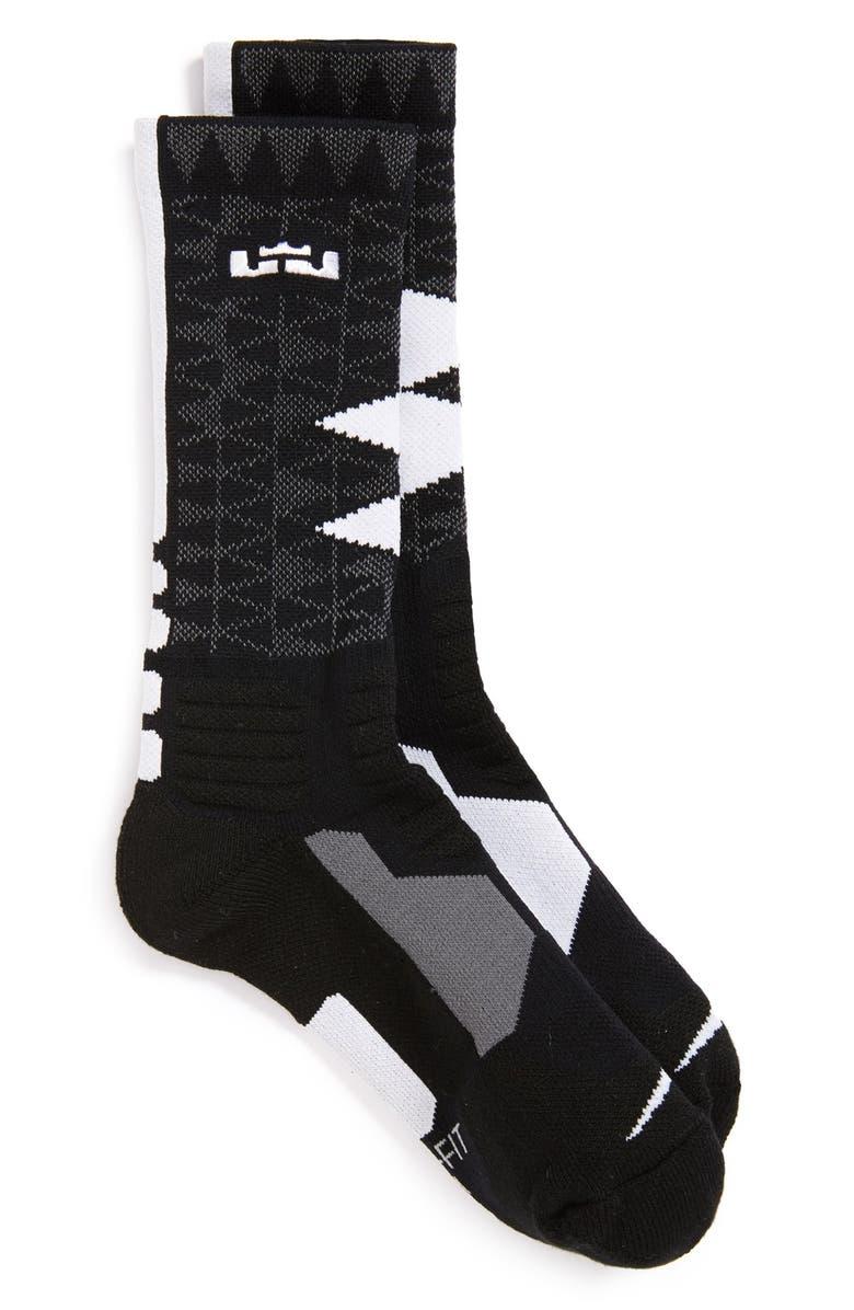 61f3a00c6 'LeBron - Hyper Elite' Cushioned Basketball Crew Socks, Main, color, ...