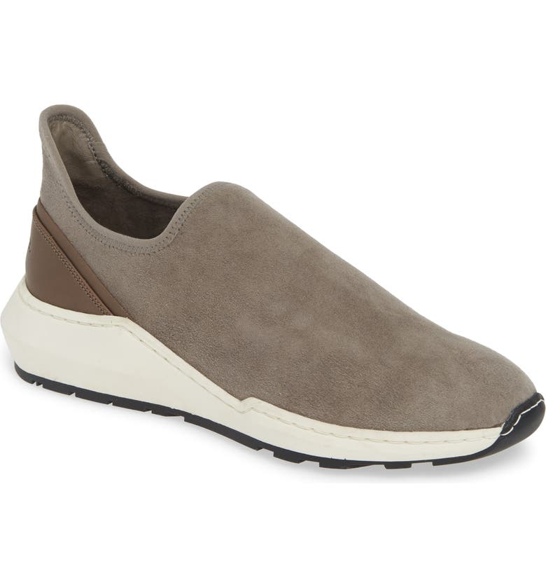 VINCE Marlon Slip-On Sneaker, Main, color, LIGHT WOODSMOKE SUEDE