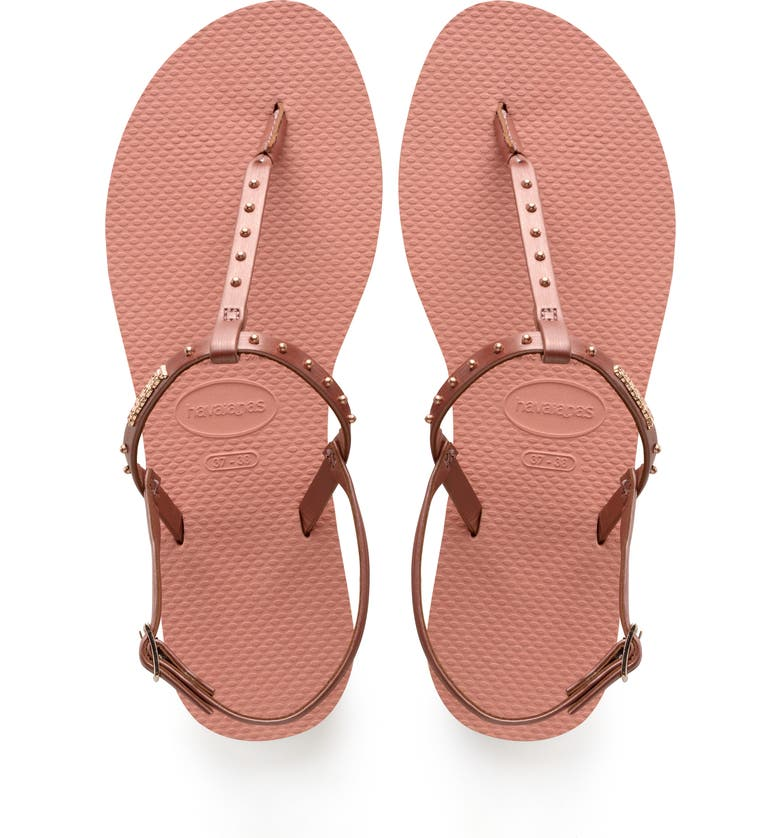 HAVAIANAS You Riviera Embellished Sandal, Main, color, ROSE NUDE