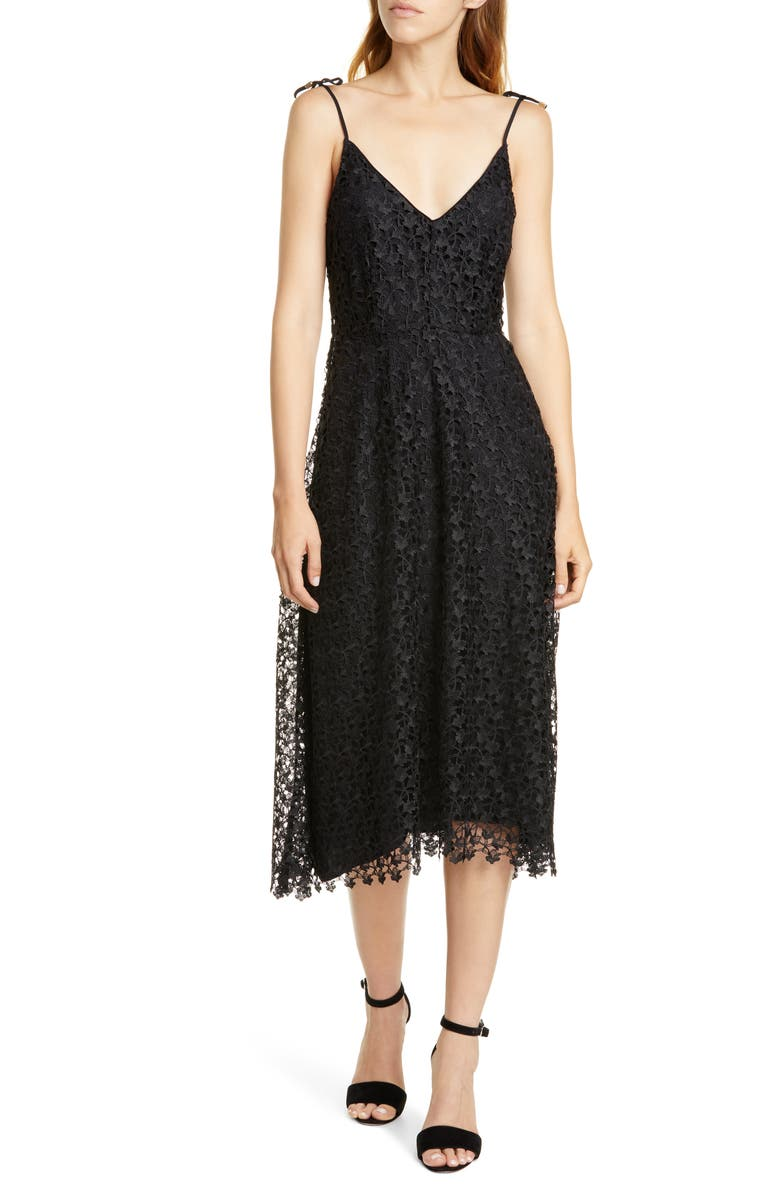 Josana Allover Lace Tie Strap Dress